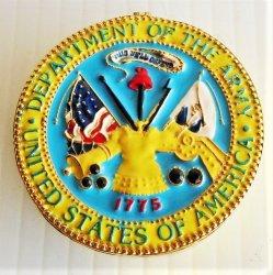 Objet d'Art Army Seal Logo Jeweled Trinket Box #302