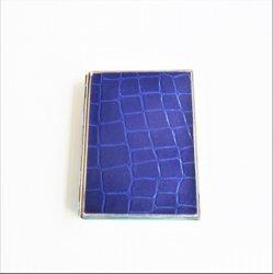 Cigarette Case, Blue Alligator design, holds 9 cigarettes