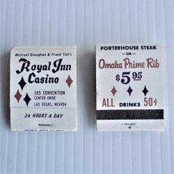 Royal Inn Las Vegas, 2 Books of Matches, Never Used
