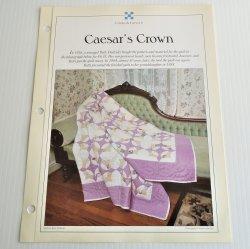 '.Caesar's Crown Quilt Pattern.'