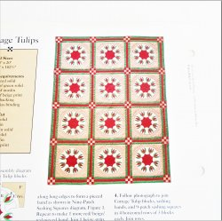 Cottage Tulips, Quilt Pattern with Templates
