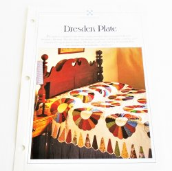 Dresden Plate Quilt Pattern with Templates