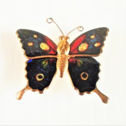Cloisonne Butterfly Magnets, 1.5 inch, Set of 5
