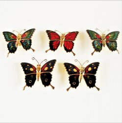 '.Cloisonne Butterfly Magnets.'