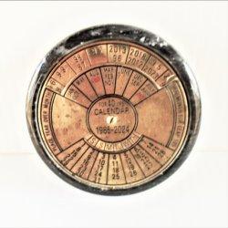 40 Year Perpetual Brass and Granite Calendar, 1985 to 2024