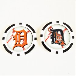 Detroit Tigers Golf Ball Marker Chips, pk of 3, New