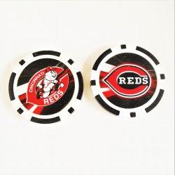 Cincinnati Reds Golf Ball Marker Chips, pk of 3, New