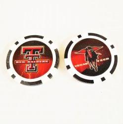 Texas Tech Red Raiders Golf Ball Marker Chips, pk of 3