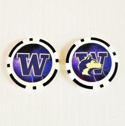 Washington Huskies Golf Ball Marker Chips, pk of 3