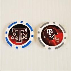 Texas A&M Aggies Football Golf Ball Marker Chips, pk of 3