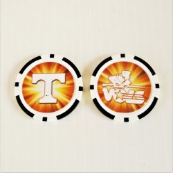 Tennessee Vols Golf Ball Marker Chips, pk of 3