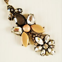 Dangle Necklace, 2 part pendant, 24 inch chain w/ extender