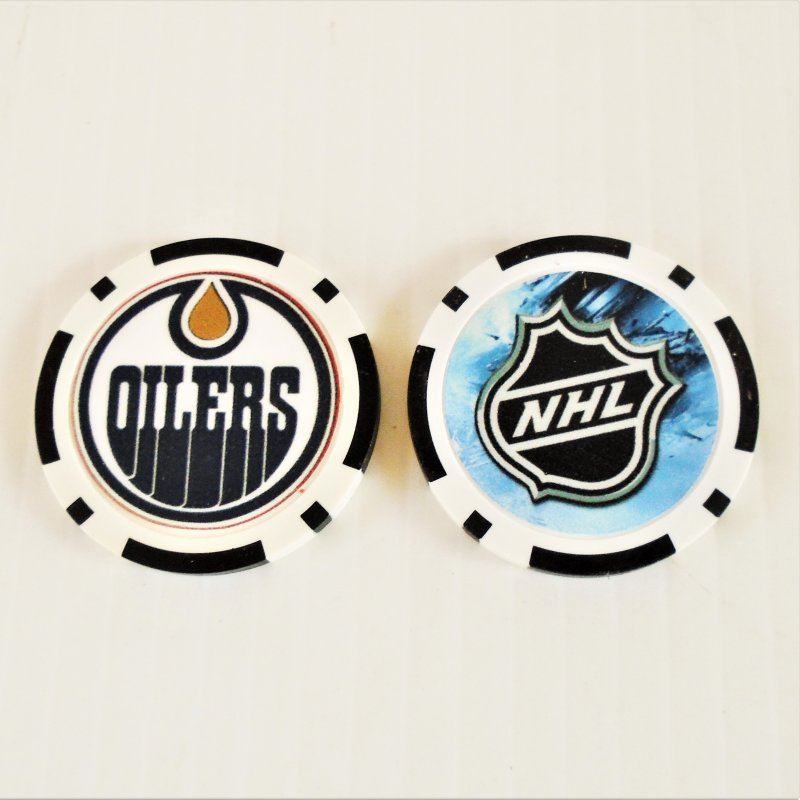 Edmonton Oilers NHL golf ball marker chips. 3 pieces. Never used.