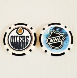 Edmonton Oilers NHL Golf Ball Marker Chips, 3 pieces