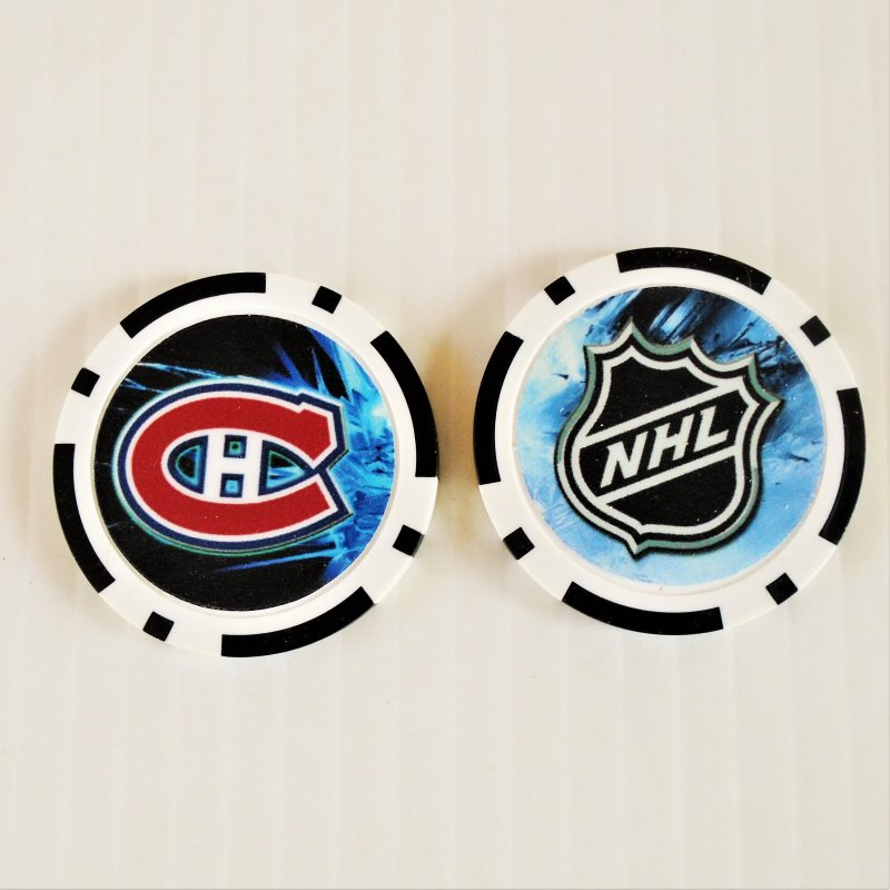 Montreal Canadiens NHL golf ball marker chips. 3 pieces. Never used.
