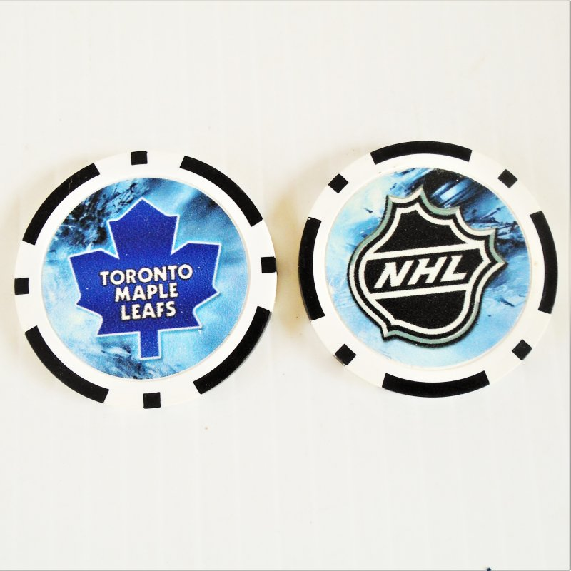 Toronto Maple Leafs NHL golf ball marker chips. 3 pieces. Never used.