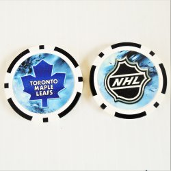 Toronto Maple Leafs NHL Golf Ball Marker Chips, 3 pieces