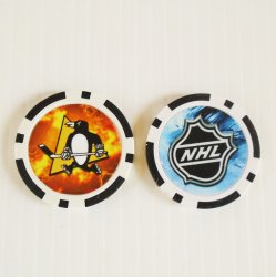 Pittsburgh Penguins NHL Golf Ball Marker Chips, 3 pieces