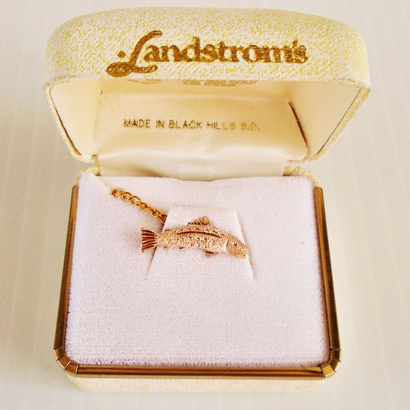 10k gold Trout tie tack from Landstrom's Black Hills Gold South Dakota