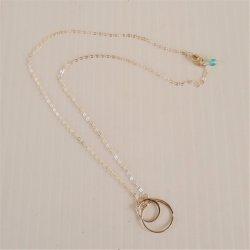 Sterling 925 Efytal Friends Interlocking Circles Necklace