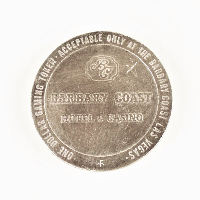 Barbary Coast Hotel Casino Las Vegas $1 metal coin token from their first year. Dated 1979.