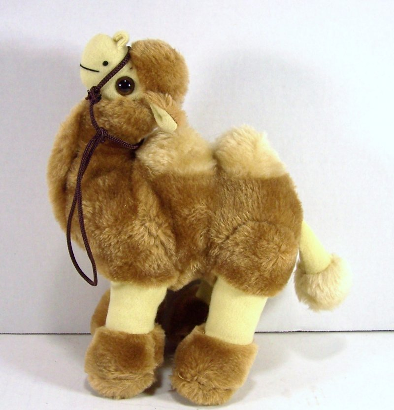 Camel Plush Stuffed Animal Two Humps Rope Harness