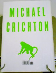 '.Next by Michael Crichton.'