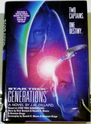 Star Trek Generations movie adaptation 1994 1st ED HC DJ