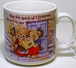 Russ Teddy Bear Hot Beverage Mug Christmas Holiday