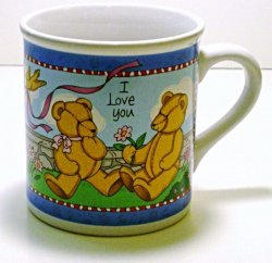 Russ Berrie I Love You Hot Beverage Mug