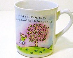 Russ Occassion Hot Beverage Mug, Children are God's Blessings