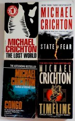 Timeline, Congo, Lost World, State of Fear Michael Crichton 4 book PB lot