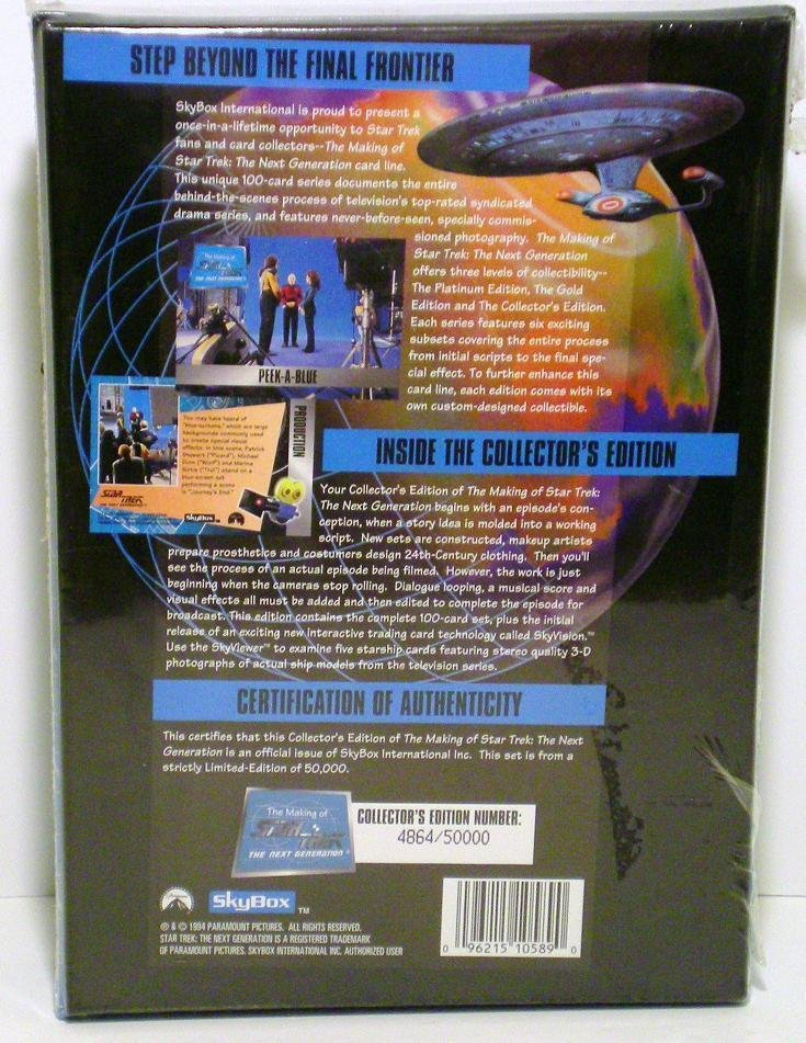 The Next Generation Collectors Ed 1994 Skybox