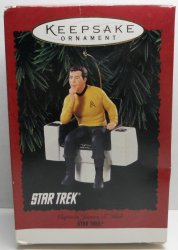 Star Trek Captain James T Kirk, Hallmark Ornament 1995