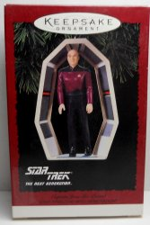 Star Trek Hallmark Ornament Captain Jean Luc Picard 1995