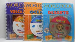 Deserts, Oceans and Volcanos by Interfact Book CD-ROM Worldbook Educational
