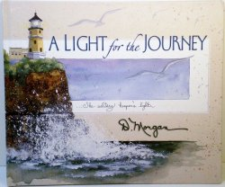 A Light for the Journey by D. Morgan 2001 HC poetry watercolor