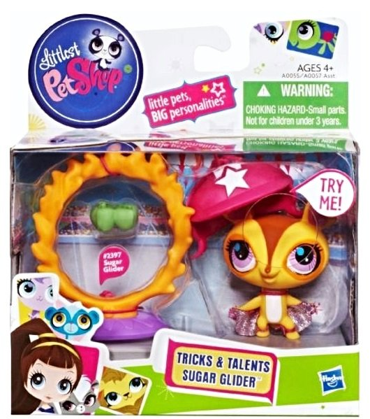 Image 0 of Littlest Pet Shop Tricks and Talents Figure Sugar Glider 2397