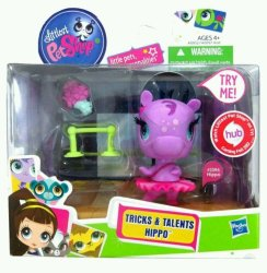 Littlest Pet Shop Tricks and Talents Hippo 2394 Hasbro