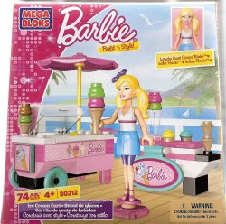 Mega Bloks Barbie Build 'n Style Ice Cream Cart 80212