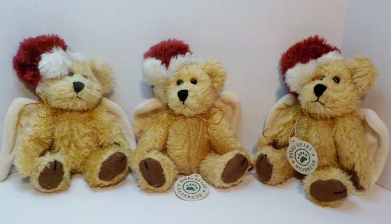Boyd's Bearwear Christmas Ornaments QVC Retired 1999