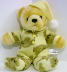 Bedtime stuffed Teddy Bear in Fleece sleeper toy 2003