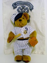Knickerbocker Baseball Bear Alexander Teddy Bear limited Edition