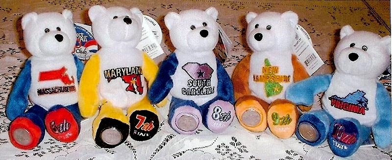 State Quarter Coin Bears Limited Treasures 2000 retired