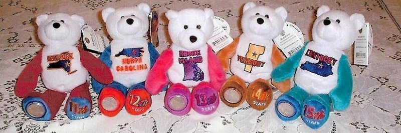 State Quarter Coin Bears Ltd Treasures 2001 retired
