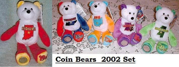 State Quarter Coin Bears Limited Treasures 2002 retired