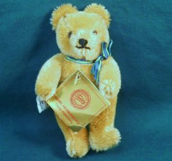 Gebr-Hermann Original Teddy Bear Golden brown 5 inch c1985