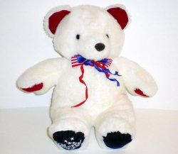 Liberty Teddy Bear white patriotic bear release 1991 4th of July