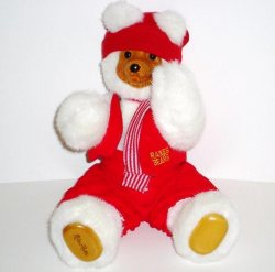 Raikes Bears Santa's Elf Red 1989 2nd Christmas Ed