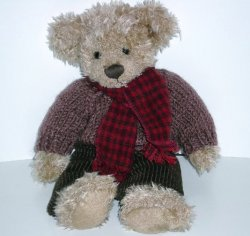 Russ Berrie Collection Teddy Bear Allister 2000 chenille plush